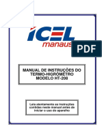 Manual Do Termo-Higrometro HT-208