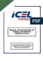 Manual Do Termo-Higrometro HT-208