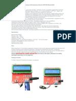 Kit M168 for Capacitance ESR Inductance Resistor NPN PNP Mosfet
