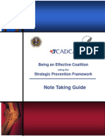 CADCA Being an Effective Coalition using the Strategic Prevention Framework (New Grantee Participant Guidebook)