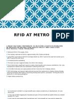 Rfid at Metro