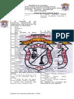 Examen de Ciencias Naturales Grado 6 Cuarto Periodo 2016