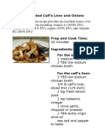 Healthy Sautéed Calf's Liver and Onions