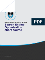 Uct Search Engine Optimisation Course Information Pack
