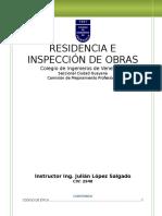 Residencia e Inspección de Obras