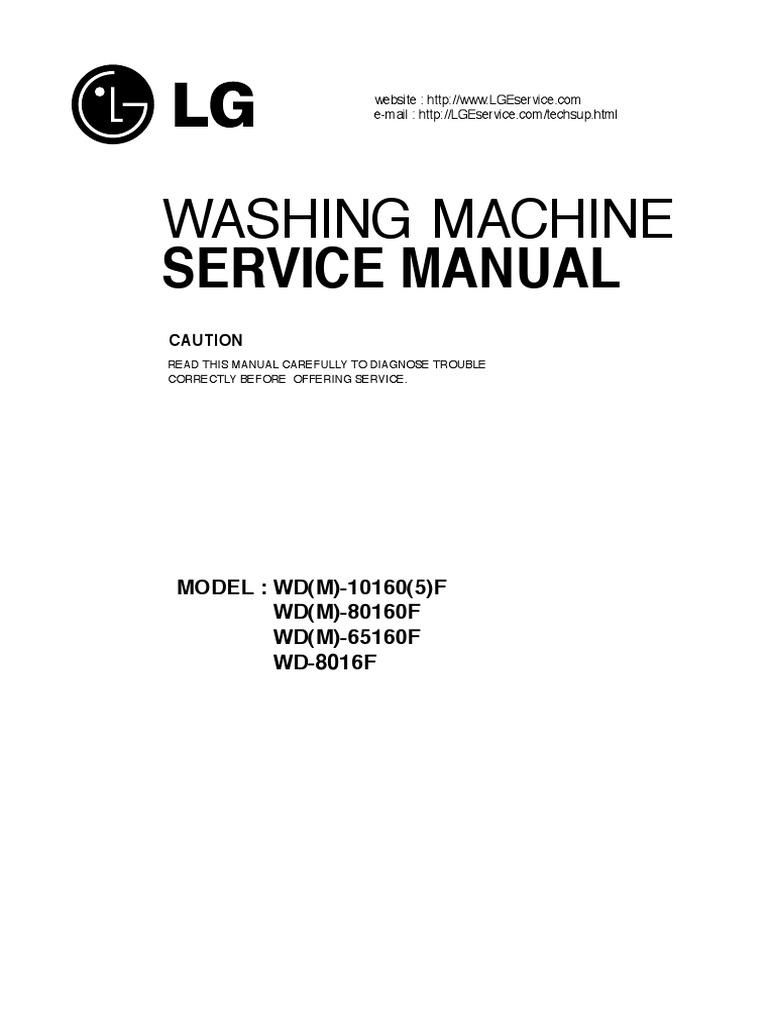 Lg Wd M 65130f Service Manual