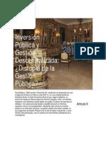 Inversion Publica y Gestion Descentralizada