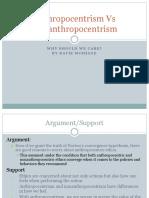 Anthropocentrism vs Nonanthropocentrism-chris Ruyak
