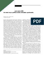 HR CS AAS espectrometria