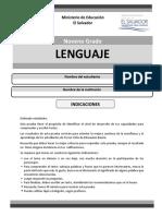 Prueba Lenguaje Noveno Grado.pdf
