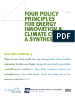 Four Policy Principles for Energy Innovation & Climate Change