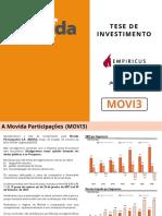 50-Tese de Investimento Para o Ipo de Movida Movi3