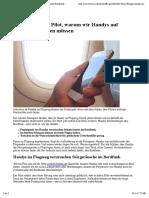 Handy aus im Flugzeug