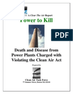 Power to Kill Death and Disease from Power Plants Charged with Violating the Clean Air Act
