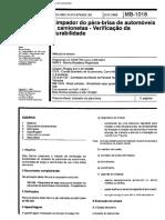 NBR 05521 MB 1018 - Limpador de Para-brisa de Automoveis e Camionetas - Verificacao Da Durabilida
