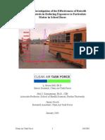 School Bus Particulate Matter Study from Diesel - School Children at Risk