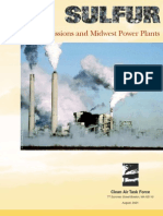 Sulfur Emissions and Midwest Power Plants