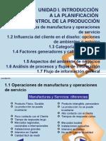 UNIDAD I. Introducción Planificacion Control Produccion