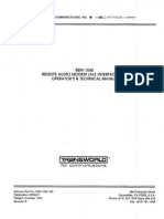 Transworld REM-1045 Remote Audio Modem - Operator and Technical Manual