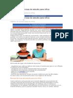 Las Mejores Técnicas de Estudio Para Niños