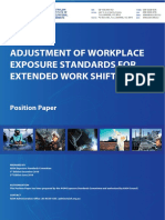 Adjustment of Workplace Exposure Standards for Extended Work Shifts