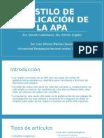 Estilo de Publicación de La APA