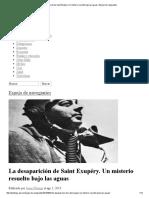 La Desaparición de Saint Exupéry