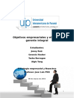 Objetivos Empresariales y El Rol Del Gerente Integral