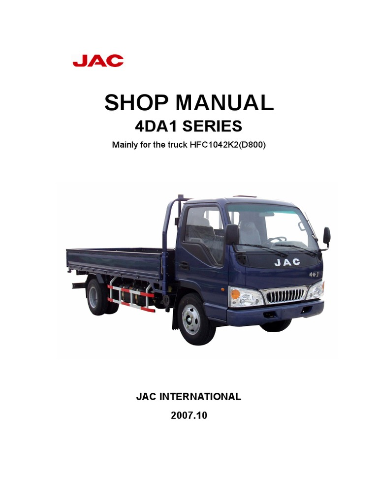 4DA1 Series Trucks Workshop Manual | Internal Combustion Engine | Fuel  Injection