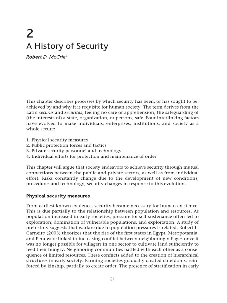 The-Handbook-of-Security-Sample-History-of-Security pdf | Bank Vault