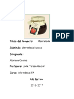Proyecto Mermelada-xiomara Cusme