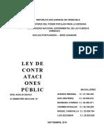 Ley de Contrataciones Publicas Trabajo
