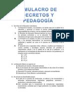 Decretos y Pedagogia Cuestionario # 3