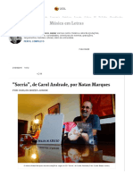 """""""Sorria"""", De Carol Andrade, Por Natan Marques"""