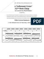The 'Leftennant Cross' 32nd Note Gospel Chop