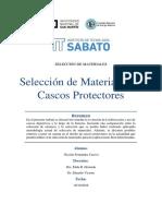 Selección de Materiales Para Cascos Protectores- Fernandez Cuervo