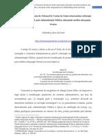 Balizas jurisprudenciais do Tribunal de Contas da União relacionadas à alteração contratual unilateral, pela Administração Pública, almejando melhor adequação técnica