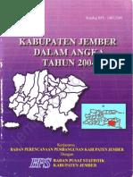 Kabupaten Jember Dalam Angka Tahun 2004