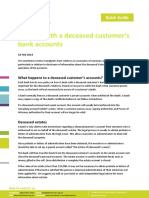 Dealing With a Deceased Customer s Bank Accounts NZ