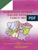 Kabupaten Jember Dalam Angka Tahun 2003