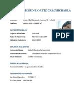 Cv - Genesis Katherine Ortiz Carchichabla