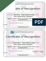 Essay Slogan Poster Certificate