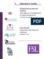 Grade 1 to 3 Curriculum Core French Manual Final Low Copy Yby500
