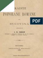 [1895] Simion Florea Marian (1847-1907) - Traditii Poporane Romane Din Bucovina
