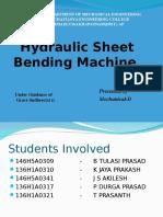 Hydraulic Sheet Bending Machine Ppt