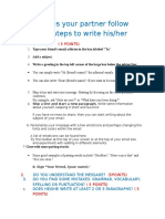 Does Your Partner Follow the 8 Steps to Write His