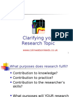 Clarifying Your Research Topic