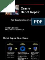 Oracle Depot Repair Apps