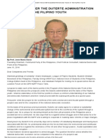 Prospects Under the Duterte Administration and Tasks of the Filipino Youth – Jose Maria Sison