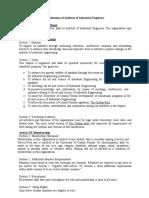 Institute of Industrial Engineers Constitution
